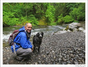 Polly and Paul pose by the hike to Punchbowl Falls