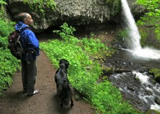 About to go underneath Ponytail Falls