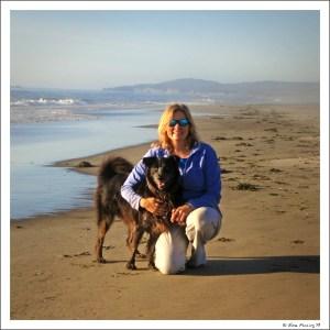 A rare pic of moi on the beach w/ Polly