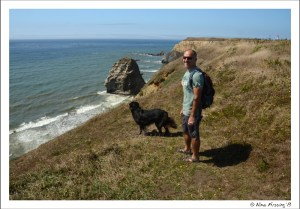 There's no place quite like it. Posing on the cliffs at Cape Blanco State Park