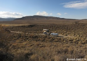 View of our shared site w/ the Watson's off Hot Creek Hatchery Road. That turn at the end was TIGHT!