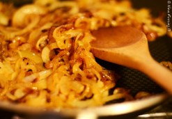 Caramelizing onions...oh, so tasty!