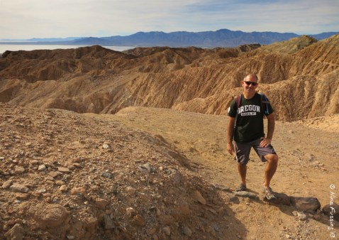 Paul poses on the ridge at Mecca Hills