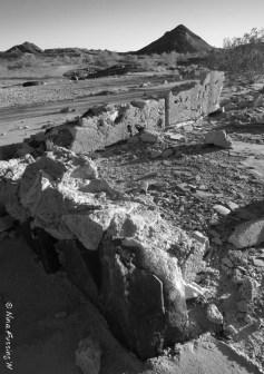 A rubbled riun of a house