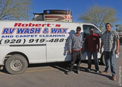 The team of Robert's Wash & Wax