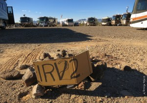 "In the ""circle"" at iRV2 gathering in Quartzsite AZ. See us?"