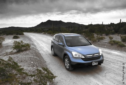The Ajo Scenic Drive on a cloudy day