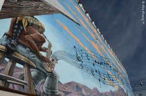 Cool mural at the Ajo Copper News