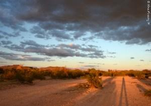 Long shadows and a dark day at Why, AZ