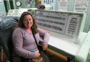 Amanda looking far too happy at the launch controls :)