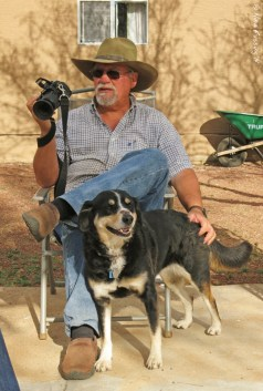 A man, a camera and his dog :)