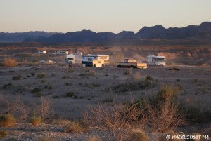 View to the right of our site showing lots of RVs.