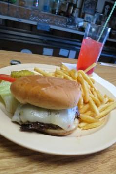 The Saucer Burger & CherryA51 Cocktail