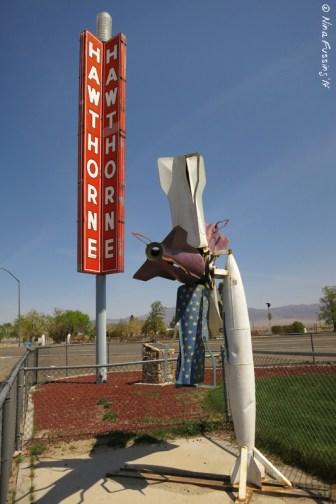 Rocket windmill art. Only in Hawthorne!