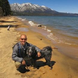 On Kiva Beach in South Lake Tahoe