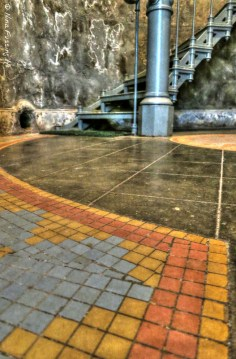 HDR of the cool floor mosaic they have here