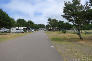 Another view down the middle of the two RV rows. Again this was early in the week so lots of open space.