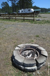 View of fire-pit