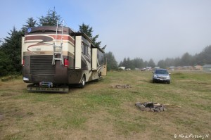View of our site in the dispersed camping area from the back