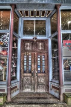 Classic door in downtown