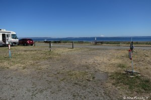 View looking towards front row of entry sites. Site #338 on right with 339, 340 on left. All these sites have water views.