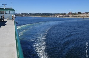 And we're OFF! Sailing away from Port Townsend, WA