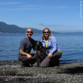 In our own little cove at Obstruction Pass