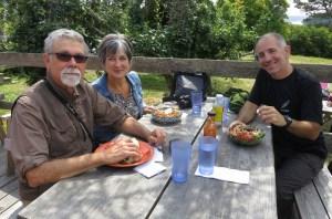 Lunch at Vortex with Laurel & Eric