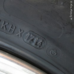 Learn how to read the datecode on tires. These are our new tires manufactured on the 17th week of 2014