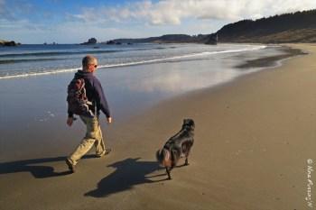 Morning walk on the northern beach