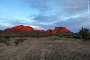 Gorgeous KOFA mountains at sunset