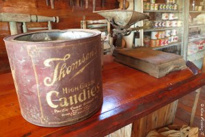 The interior of the mercantile has lots of old relics
