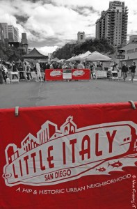 Little Italy's market is HUGE and covers multiple blocks