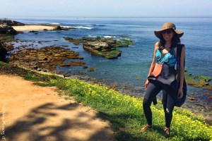 All suited up for a snorkel at La Jolla Cove