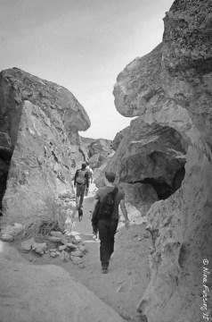 Walking amongst the boulders