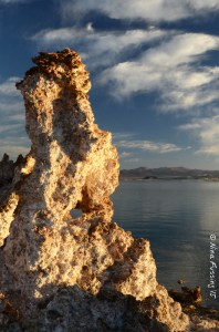 First light glow on the tufa's