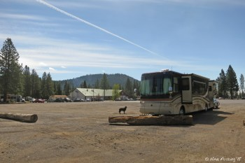 Front View of our site. We were parked at the far north end. Unfortunately this is where truckers park too.