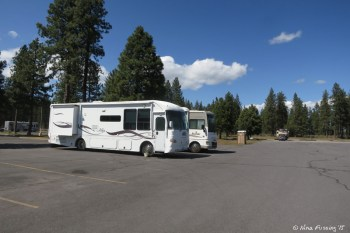 View of RV's parked in RV area of the lot. We're in the back on right.