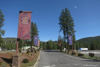 View of entrance to Casino from Hwy 97