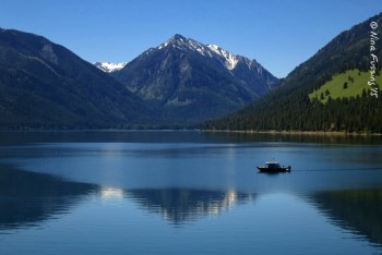 Gorgeous Wallowa Lake. The State Park is at the base of those mountains at the south end of the lake.