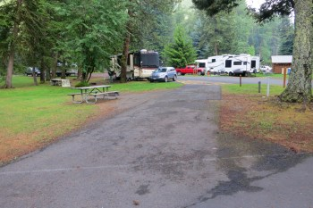 View down beginning of B Loop. Empty site B7 in front with our rig in B5 behind it.