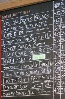 The impressive brew list at North Jetty