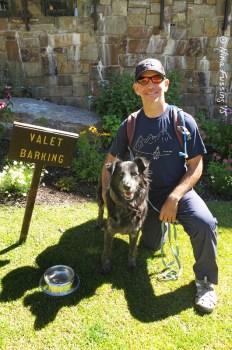 Valet Barking at Teton Village. Cute!!