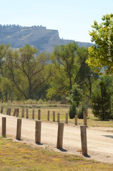 View from Scotts Bluff National Monument from the campground