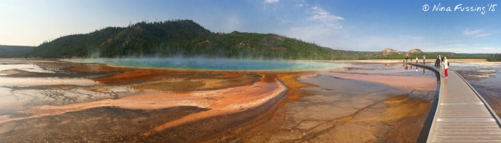 Grand Prismatic from the boardwalk is a completely different view