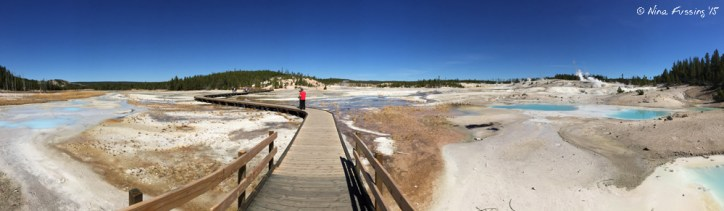 iPhone Panorama on the walkway in Porcelain Basin