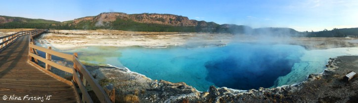 A steamy early morning at Sapphire Pool with no-one else around