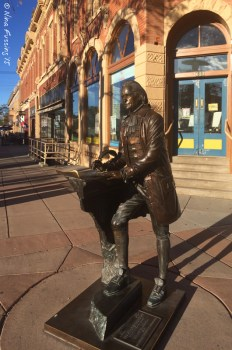 Downtown Rapid City sculptures of all the presidents. This is Thomas Jefferson.