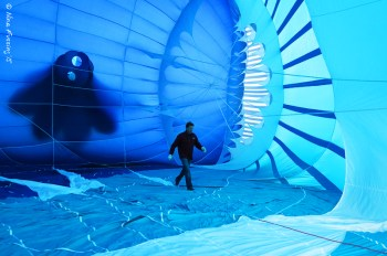 The pilot is the ONLY one allowed inside the balloon.