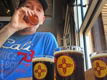 Tasting a few at Santa Fe Brewing
